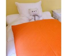 Édredon enfant en duvet Coloris - orange Dimension - 70x100 cm - Couvertures - Edredons - Couettes