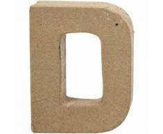Creative lettre D papier mâché 10 cm - Autres jouets en bois