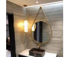 Miroir rond de salle de bain LIBERTE, miroir de decoration mural - Miroir