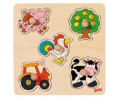 Goki Puzzle en bois Petits 5-Piece - Autres jouets en bois