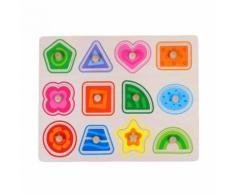 Lettre D'Animaux en Bois Puzzle Early Learning Éducatifs pour Bébés Jouets D'Enfants Jmpl120 - Puzzle enfant