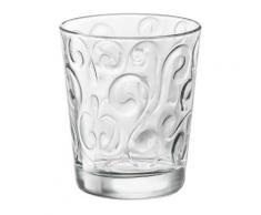 Verre à eau en verre motif arabesque transparent 29.5cl - Set de 6 NAOS - Verrerie