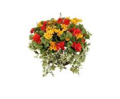 Closer To Nature Hbks20 Panier Cône Suspendu Avec Plantes Artificielles Azalées Rouges/Fuchsias Roses/Lierre Diamètre 25 Cm - Support et plateau pour jardinières et bacs