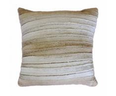 Coussin 40 x 40 cm imitation fourrure noli Naturel - Textile séjour