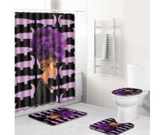 Trois dimensions toilettes Scenic rideau de douche fraîche coussin 4 jeux Kiliaadk511 - Boite de rangement
