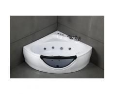 Baignoire d'angle balnéo 135x135 CARAIBES** - Installations salles de bain