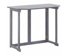 vidaXL Table pliable de balcon 90x50x74 cm Bois d'acacia massif - Mobilier de Jardin