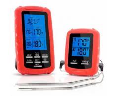 Decdeal Thermomètre sans fil à viande Thermomètre pour barbecue Thermomètre Barbecue Grill Fumeur Thermomètre Four de cuisson Thermomètre numérique avec double sonde - Accessoires pour barbecue et fumoir