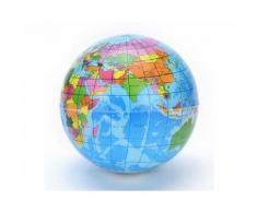 Globe terrestre soulagement du stress balle mousse expansible enfants carte de la géographie de l'atlas mondial - Jouet pour le bain