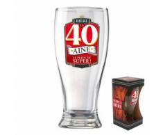 verre a biere anniversaire 40aine - Article de fête