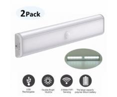 2pcs LED capteur de corps humain lampe de lumière intelligente veilleuse - Appliques et spots