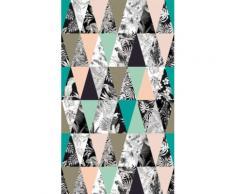 AG Design fcsl 7569 créatifs, voilage/Rideau, 1 Partie, plastique, multicolore, 140 x 245 cm - Rideaux et stores