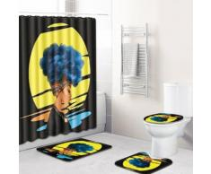 Trois dimensions toilettes Scenic rideau de douche fraîche coussin 4 jeux Kiliaadk513 - Boite de rangement