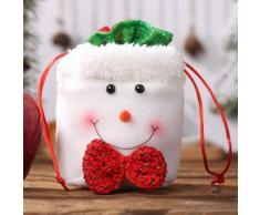 Décorations De Noël Sac À Linge Cordon Pomme Sac Mignon Sac De Bonbons Enfants Cadeau Yeti - Objet à poser