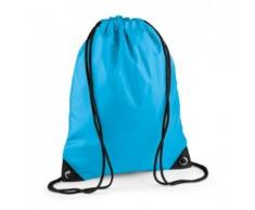 Sac à dos à bretelles - gym - linge sale - chaussures - BG10 - bleu surf - Sac à dos bandoullière