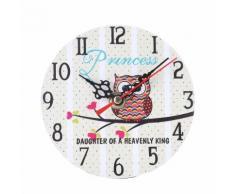 Vintage Style Antique Bois Horloge Murale Pour La Maison Cuisine Bureau Blanc PL177 - Décoration murale