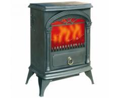 Poêle électrique Niklas Santorini effet flamme vive 1800 W 41 x 25 x H55 cm - Cheminée électrique