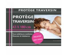 Protection de Traversin en molleton 43 x 180 cm - Linge de lit