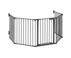 oneConcept Grillage de protection pour cheminée barrière 3m métal - noir - Cheminée électrique