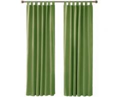 Deconovo Lot de 2 Rideaux Opaques de Salon Design Moderne Occultants pour Chambre Enfant Fille à Pattes 117x183cm Vert - Rideaux et stores