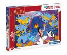 Puzzle 104 pieces aladdin et le genie de la lampe - puzzle enfant clementoni disney - Autre Puzzle
