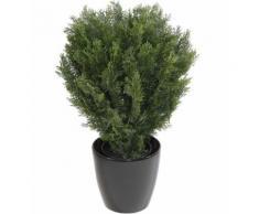 Plante artificielle haute gamme Spécial extérieur / Cyprès Buisson Rond Artificiel coloris vert - Dim : 75 x 55 cm - Plantes artificielles