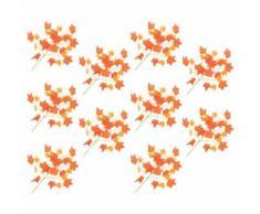 10 pcs Feuilles artificielles de ginkgo Blanc 65 cm - Plantes artificielles
