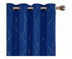Deconovo Lot de 2 Rideaux Occultant à Oeillets Rideaux Chambre Garcon Rideaux Salon Moderne Bleu Roi 140x290cm Rideau pour Porte d'entré - Rideaux et stores
