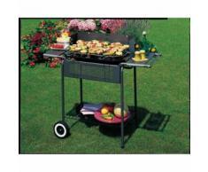Barbecue au charbon de bois avec grille 60 x 42 cm en acier Port Camargue - Cuisiner en extérieur