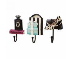 Résine Chaussures de Dame Bouteille de Parfum Sac Vêtements Patterned Chapeau Support Mural Monté Snpl387 - Rangement de l'atelier