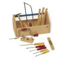 Pinolino - Trousse à outils en bois avec 11 outils pour enfant - Autres jouets en bois