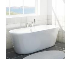 CLEARGREEN Baignoire en îlot ovale arrondie FREESTARK R33 174X80 écologique - Installations salles de bain