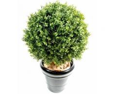 Plante artificielle haute gamme Spécial extérieur / Buis artificiel boule UV - Dim : H.88 x D.70 cm - Plantes artificielles
