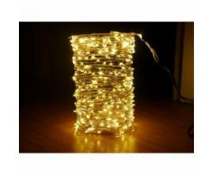 Guirlande copper cascade 700 LED blanc chaud - Lampes