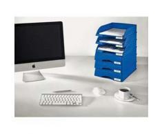 Corbeille à tiroir Leitz Plus - Bleu - Dimentions L 25,5 x H 7 x P 36 cm - Corbeille, bac à courrier, poubelle
