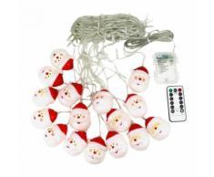 Rideaux lumineux Chaîne Avec télécommande Le jour de Noël-Blanc - Objet à poser