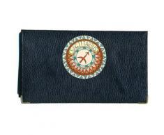 Porte chéquier porte carte en cuir noir Signe Sagittaire Zodiaque Astrologique - Autres Classement et Archivage