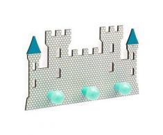 Patère en bois : château fort djeco - Autres décoration et mobilier