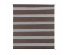 Store enrouleur tamisant 70 x 120 cm marron - Fenêtres et volets