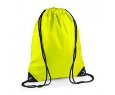 Sac à dos à bretelles - gym - linge sale - chaussures - BG10 - jaune fluo - Sac à dos bandoullière