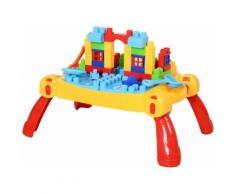 Homcom Table d'éveil Table d'apprentissage avec Blocs de Construction Table d'activité de Jeu d'eau et Sable pour Enfant 46 pièces Multicolore - Bac à sable