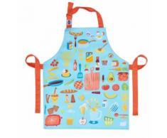 ThreadBear tablier en coton 50 x 42 cm multicolore cuisine - Linge de table