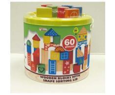 first learning cie ltd - baril construction bois 60pcs - Autres jouets en bois