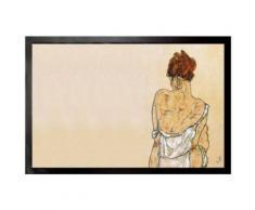 Egon Schiele Paillasson Essuie-Pieds - Femme Assise De Dos, 1917 (60x40 cm) - Tapis et paillasson
