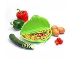 YOKO DESIGN 1155 CUIT OMELETTE SILICONE/PLATINE VERT 22,2 X 13 X 4,8 CM - Cuiseur à oeuf
