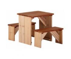 Axi - Bancs et table pour enfant ZidZed en cèdre Taille 1 - Autre jeu de plein air