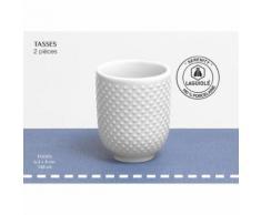 Lot de 2 tasses en porcelaine blanc SERENITY Qualité Pro - vaisselle