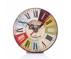 Vintage Style Antique Bois Horloge Murale Pour La Maison Cuisine Bureau Multicolore PL185 - Décoration murale
