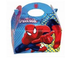4 Lunch Box Spiderman Ultimate Carton Boite A Gouter D Enfant 16X10X16 Cm Anniversaire Fete - Autres