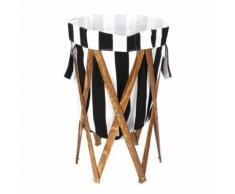 70 * 40 * 40cm Panier à linge pliable avec cadre en bois, sac à linge sale pour usage domestique (bande) - Paniers